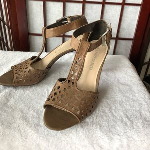 Franco Sarto T-strap Leather Heels Size 8M